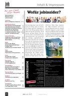 jobinsider No. 2 -- Das Karrieremagazin für Osnabrück Stadt & Land - Seite 2