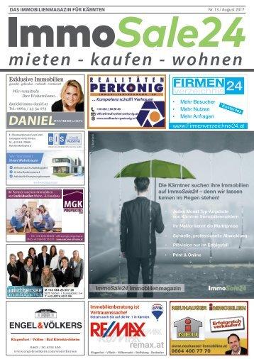 Immobilienmagazin Kärnten - Ausgabe August 2017