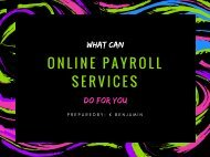 What Can Online Payroll Services Do for You