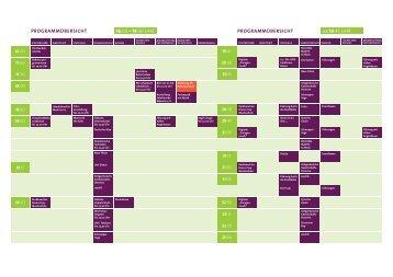 Programmübersicht Kulturparcours 2017