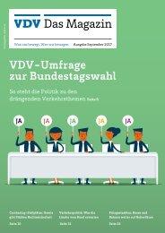 VDV Das Magazin Ausgabe September 2017