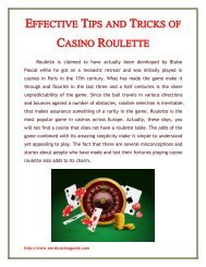 Effective Tips and Tricks of Casino Roulette