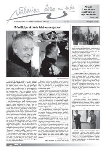 Valmieras pilsētas pašvaldības informatīvais izdevums Nr. 10