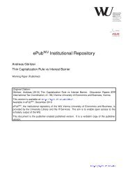 Discussion Paper Nr. 41 - Epub WU Wien