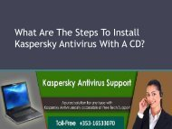 What Are The Steps To Install Kaspersky Antivirus With A CD