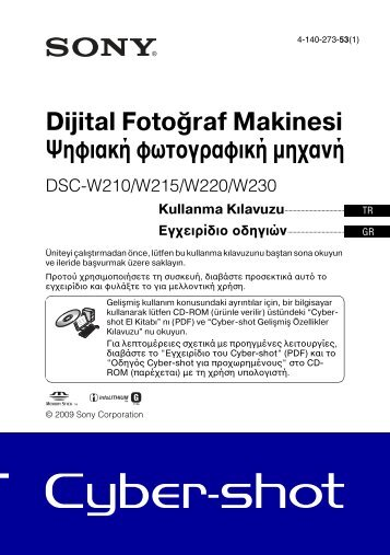 Sony DSC-W215 - DSC-W215 Consignes d'utilisation Turc