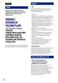 Sony DSC-W215 - DSC-W215 Consignes d'utilisation Turc - Page 2