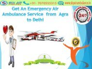 Get an Emergency Air Ambulance Service from Agra to Delhi