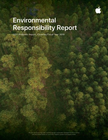 Apple Environmental Responsibility Report