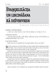 Evaņģelizācija un liecināšana kā dzīvesveids - Rīgas 1. draudze
