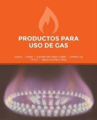 Catálogo Productos para uso de Gas