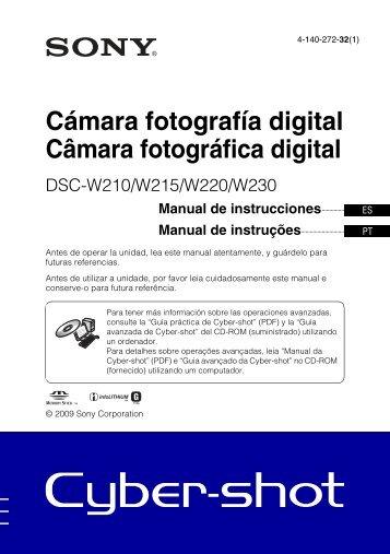 Sony DSC-W215 - DSC-W215 Consignes d'utilisation Portugais