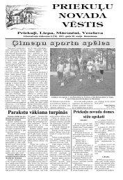 2011.gada maijs - Priekuļu pagasts