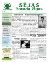 Nr. 5 (14) 2009. gada maijs SĒJAS Novada Ziņas - Sējas novads