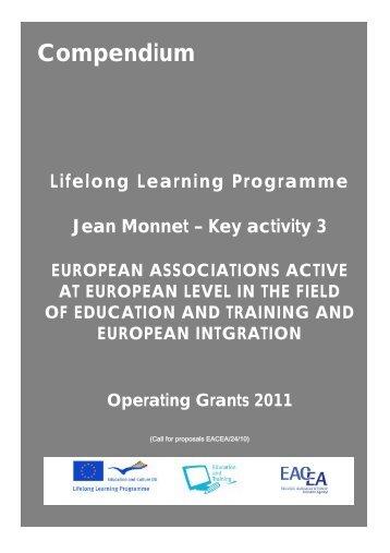 Compendium Lifelong Learning Programme Jean Monnet - EACEA