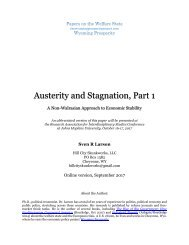 Austerity and Stagnation Part 1