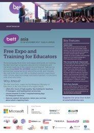 Bett Asia 2017 Expo Flyer