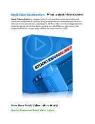 Stock Video Galore Review and (FREE) Stock Video Galore $24,700 Bonus