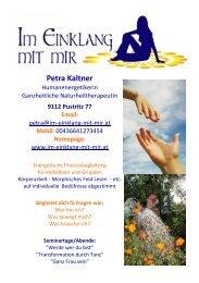 Petra Kaltner - Werde wer du bist...