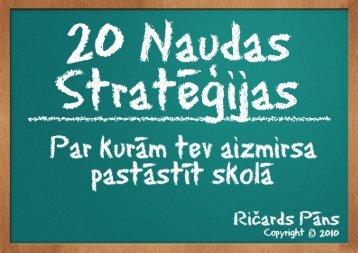 20 naudas stratēģijas - Richman Blog