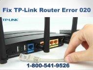 1-800-541-9526 Fix TP-Link Router Error 020
