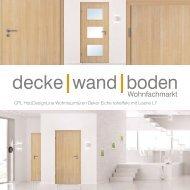 dwb Wohnraumtüren CPL Holz Design Line mit Lisene L8 Eiche roheffekt