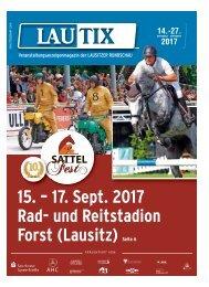 Lautix Veranstaltungsmagazin der LAUSITZER RUNDSCHAU | 14. bis 27. August 2017
