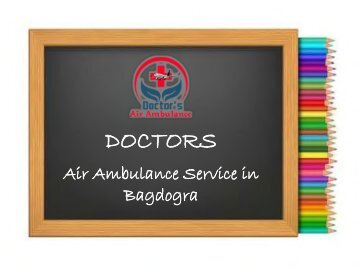 Air Ambulance Service in Bagdogra