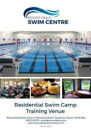 Mount Kelly Swim Centre Residential Booking Form