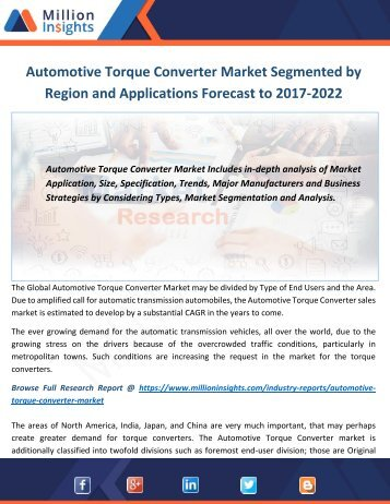 Automotive Torque Converter Industry 2017 Market Research Report