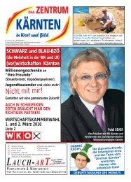 Jänner 2010 NR 15.qxd - Zentrum Kärnten in Wort und Bild