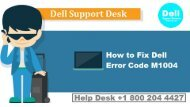 How To Fix Dell Laptop Error Code m1004? 1855-341-4016 Help