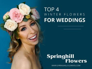 Best Winter Wedding Flowers in London Ontario