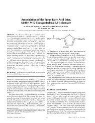 Autoxidation of the Furan Fatty Acid Ester, Methyl 9,12 ...