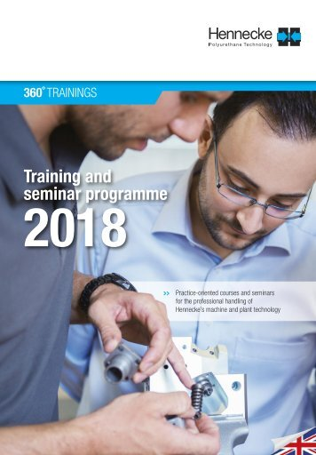 360°SERVICE  - The new Hennecke training and seminar programme 2018