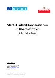 Stadt- Umland Kooperationen in Oberösterreich (Informationsblatt)