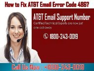 How to Fix AT&T Email Error Code 486? 1-800-243-0019 for Help