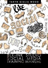 Blk-Ink Studio Training Manual - Social Media