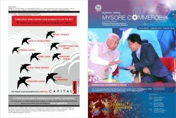 FKCCI - Mysore Commerce Magazine September 2017