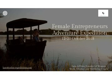 Female Entrepreneurs Adventure Expedition. Oct 2018 (2)