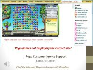 Pogo Games Technical Helpdesk Number 1-800-358-0071