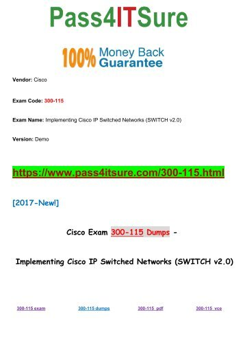 New Pass4itsure Cisco 300-115 Dumps PDF 437Q Shared