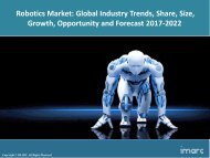 Robotics Market  Share, Size, Trends and Forecast 2017-2022