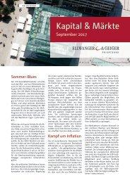 Kapital & Märkte: Ausgabe September 2017