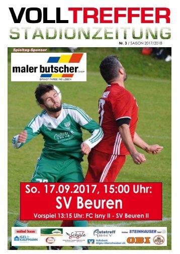 3. Ausgabe Stadionzeitung 2017/18