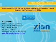 Automotive Battery Market: Global Industry Share, Segments & Key Drivers, 2021