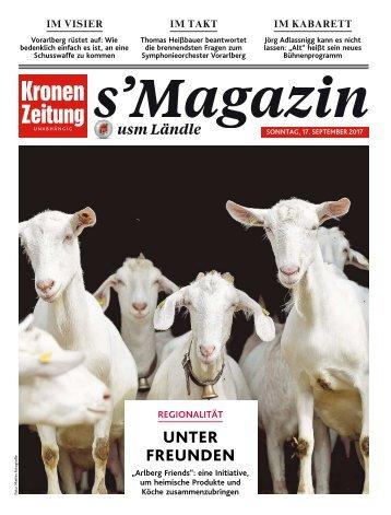 s'Magazin usm Ländle, 17. September 2017