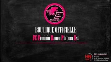BOUTIQUE OFFICIELLE FCFRPE