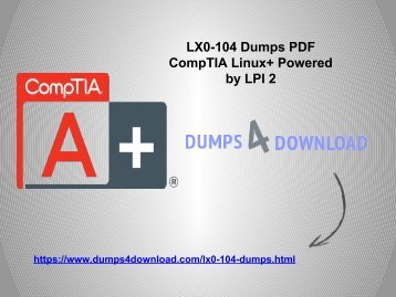 Pdf download comptia linux powered by linux professional institute download verified lx0 104 exam free lx0 104 exam dumps4download fandeluxe Image collections