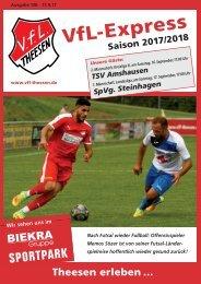 A4 Saisonheft Theesen!  17-18- Ausgabe 138 Steinhagen